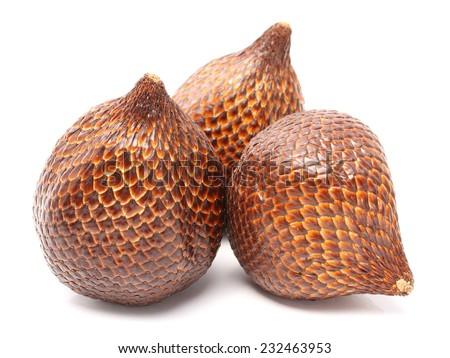 Salak snake fruit isolated on white background - stock photo