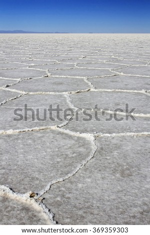 Salar de Uyuni salt flats  - stock photo