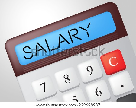Salary Calculator Meaning Pay Salaries And Wage - stock photo