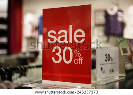 Sale 30 % - stock photo
