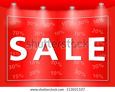 Sale banner - stock photo