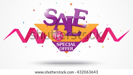 Sale Banner and Best Offer design - stock photo