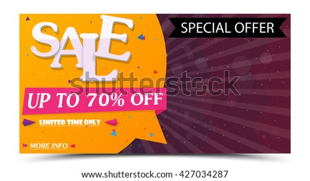 Sale Banner and Best Offer design with text  - stock photo