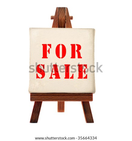 Sale board - stock photo