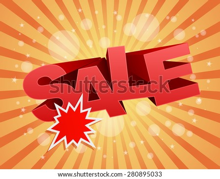 sale business background with splash star label design - stock photo