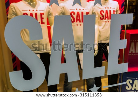 sale in a fashion retail business - stock photo