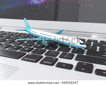 sale of airline tickets - stock photo