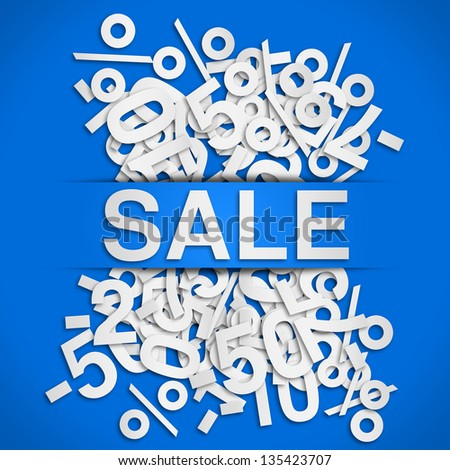 sale poster - stock photo