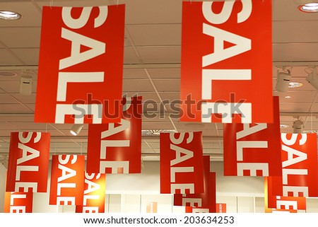 Sale signs Sale signs  - shopping concept - stock photo