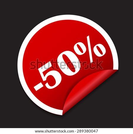 Sale Sticker, Banner Template  Illustration - stock photo
