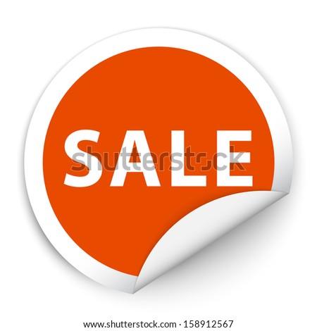 Sale sticker style sign - stock photo