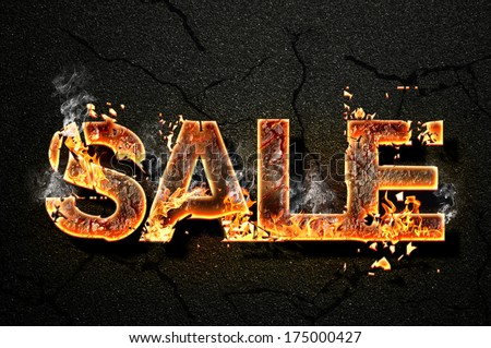sale text - stock photo