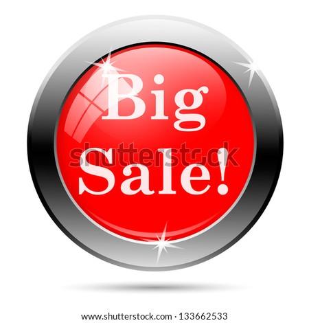 Sales button - big sale - stock photo