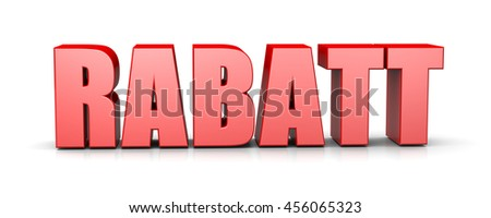 Sales Red 3D Text German Language Illustration on White Background - stock photo