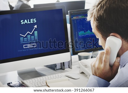 Sales Retail Income Profit Accounting Concept - stock photo