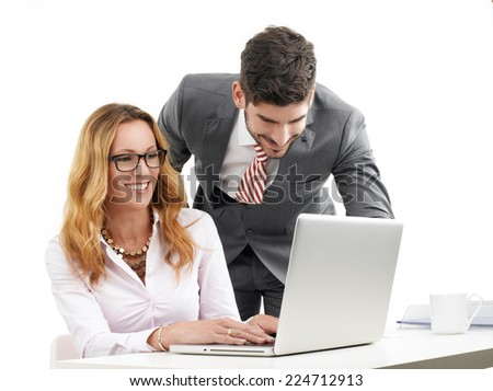 Sales team working at office. Business people.  - stock photo