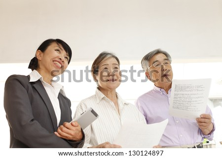 Salesman, housing - stock photo