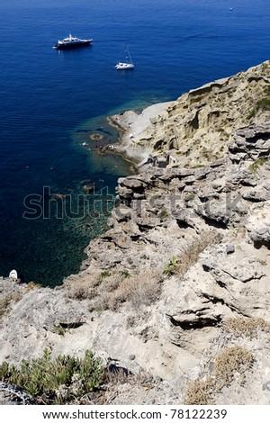 salina, malfa coast, sicily. italy - stock photo