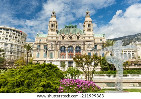 Salle Garnier the Opera house of Monte-Carlo - stock photo