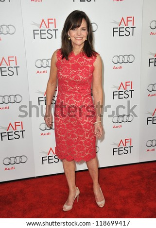 "Sally Field at the AFI Fest premiere of her movie ""Lincoln"" at Grauman's Chinese Theatre, Hollywood. November 8, 2012  Los Angeles, CA Picture: Paul Smith - stock photo"