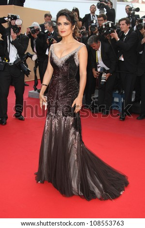 Salma Hayek arriving for the 'Madagascar 3' premiere- during the 65th Cannes Film Festival Cannes, France. 18/05/2012 Picture by: Henry Harris / Featureflash - stock photo