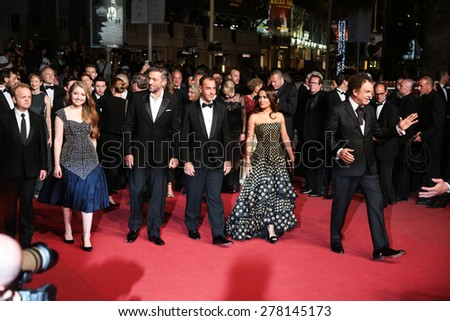 Salma Hayek attends the 'Il Racconto Dei Racconti' Premiere during the 68th annual Cannes Film Festival on May 14, 2015 in Cannes, France. - stock photo