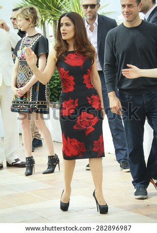 Salma Hayek  attends the 'Il Racconto Dei Racconti' ('Tale of Tales') photocall during the 68th annual Cannes Film Festival on May 14, 2015 in Cannes, France. - stock photo