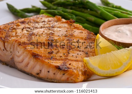 Salmon entry - stock photo