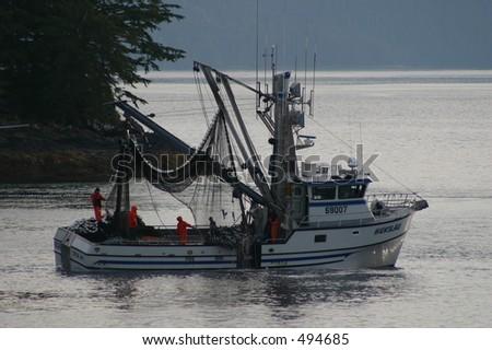 Salmon Fishing - stock photo