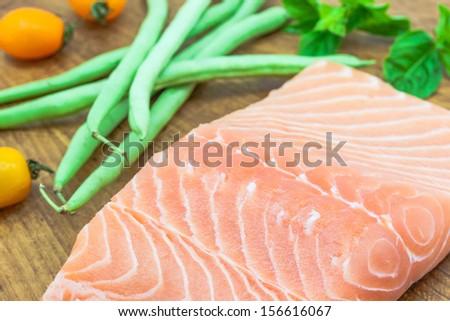 Salmon recipe - stock photo