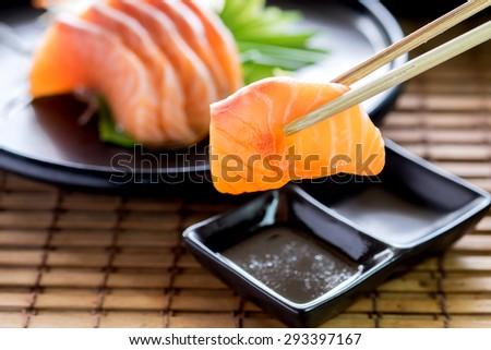 Salmon Sashi - stock photo