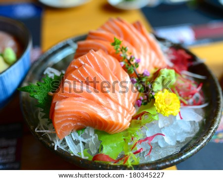 Salmon Sashimi - stock photo