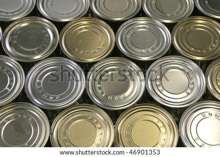 Salmon tin background abstract - stock photo