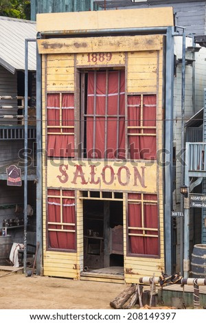 Saloon in Wild West style - stock photo
