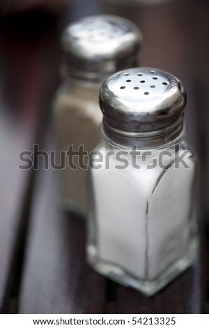 salt and pepper - stock photo