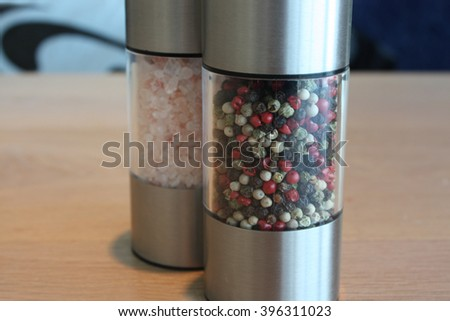 Salt and pepper mix. - stock photo