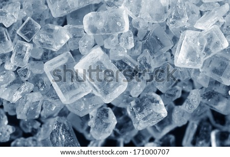 salt crystals - stock photo