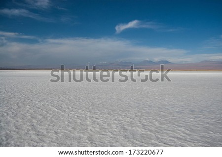 Salt flat in Chile - stock photo