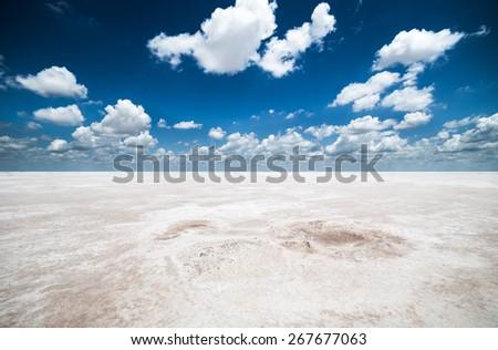 Salt Flats - stock photo