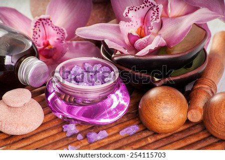 Salt for SPA - stock photo