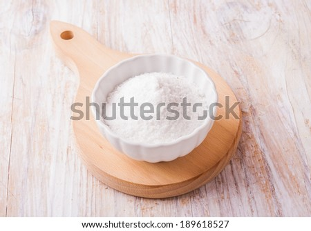salt in a bowl - stock photo