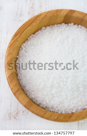 salt in bowl - stock photo