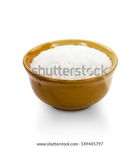Salt isolated on white background - stock photo