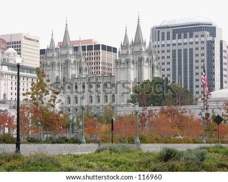 Salt Lake City Mormon Temple - stock photo