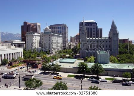 Salt Lake city, Utah (downtown) - stock photo