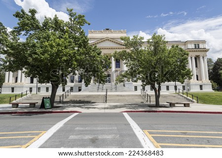 Salt Lake City, Utah - July 11, 2014: The Park Administration  building at the University of Utah in Salt Lake City. - stock photo