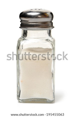 Salt mills on white background - stock photo