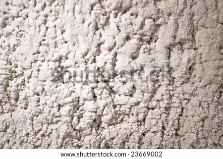 Salt on wall of salty mine. Poland, Wieliczka - stock photo
