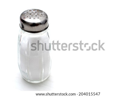 salt pot - stock photo