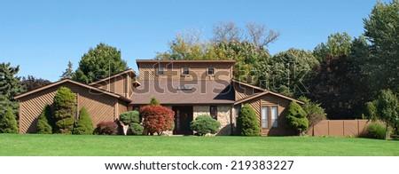 Saltbox House - stock photo